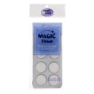 Cool & Cool Magic Tissue Compressed Dry Tissue 8's