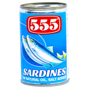555 Sardines In Natural Oil 155g