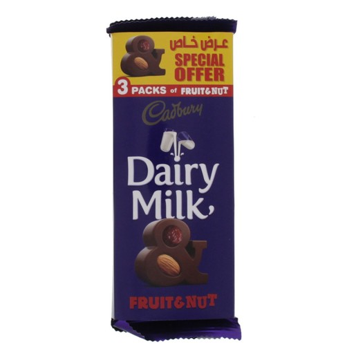 Dairy Milk Fruit and Nut Chocolate Assorted 100g x 3pcs