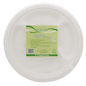 Green 3 Complement Plates 10inch 20pcs