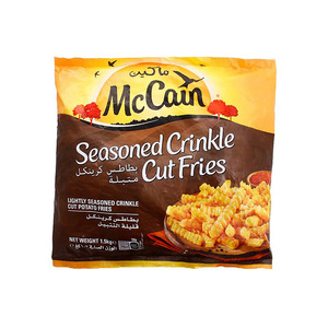 McCain Seasoned Crinkle Cut Potato Fries 1.5kg