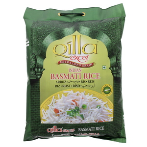 Qilla Excel Extra Long Grain Indian Basmati Rice 5kg