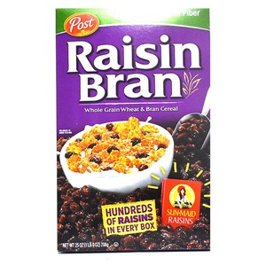 Post Raisin Bran Whole Grain Wheat & Bran Cereal 708g
