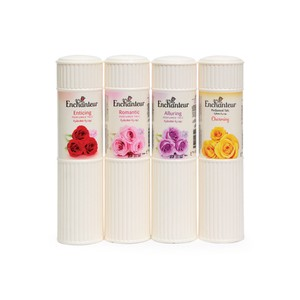Enchanteur Perfumed Talc 250g x 4's Assorted