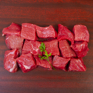 New Zealand Beef Cubes Low Fat 500g Approx. Weight