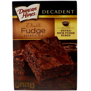 Duncan Hines Decadent Double Fudge Brownie Mix 498g