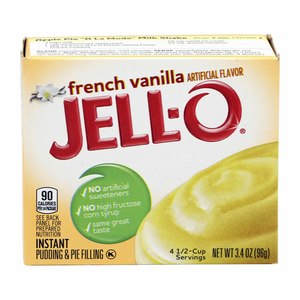 JELL-O French Vanilla Artificial Flavor 96g