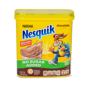 Nestle Nesquik Chocolate Flavor No Added Sugar 453.5g