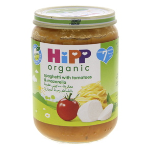 Hipp Organic Spaghetti With Tomatoes And Mozarella 190g