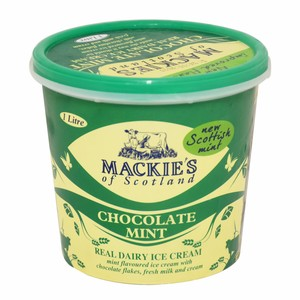 Mackie's Chocolate Mint Real Dairy Ice Cream 1Litre