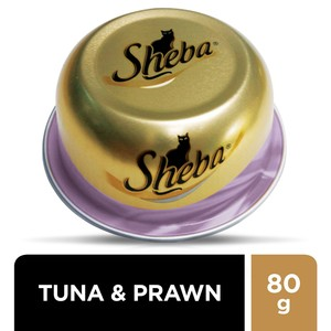 Sheba Tuna and Prawn Domes Cat Food 80g