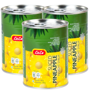 Lulu Sliced Pineapple in Light Syrup 3 x 565g