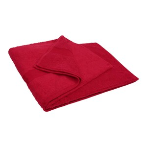 Laura Collection Bath Towel Red Size: W90 x L150cm