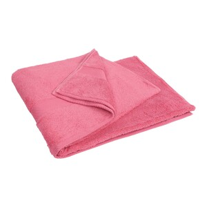 Laura Collection Bath Towel Pink Size: W90 x L150cm