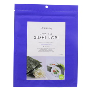 Clearspring Japanese Sushi Nori Dried Sea Vegetable 17g