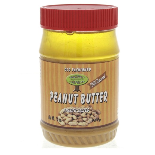 Organiqelle Old Fashioned Peanut Butter 454g