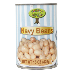 Organiqelle Natural Navy Beans 425g