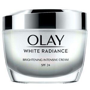 Olay Face Moisturizer White Radiance Brightening Intensive Day Cream with Vitamin B3  SPF24 50g