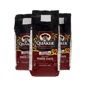 Quaker White Oats 3 x 500g