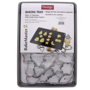 Prestige Baking Tray With Stainless Steel Cutters 12Pc