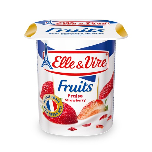Elle & Vire Fruits Yogurt Strawberry 125g