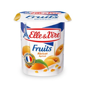 Elle & Vire Fruits Yogurt Apricot 125g