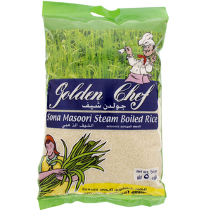 Golden Chef Sona Masoori Steam Boiled Rice 5kg