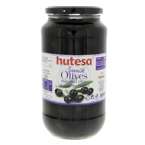 Hutesa Spanish Plain Black Olives 550g