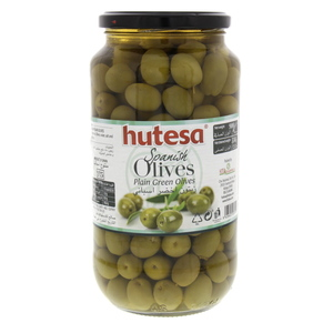Hutesa Spanish Plain Green Olives 550g