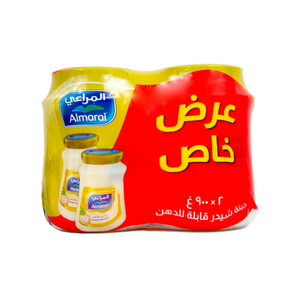 Al Marai Spreadable Cheddar Cheese Original 2 x 900g