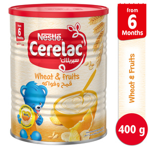 Nestle Cerelac Infant Cereals with Iron + Wheat & Fruits From 6 Months 400g