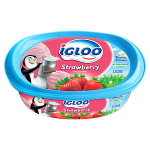Igloo Strawberry Ice Cream 4Litre