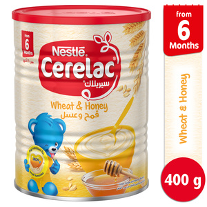 Nestle Cerelac Infant Cereals with Iron + Wheat & Honey From 6 Months 400g