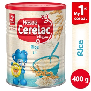Nestle Cerelac Infant Cereals with Iron + Rice From 6 Months 400g