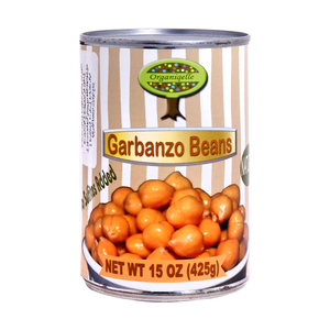 Organiqelle Natural Garbanzo Beans 425g