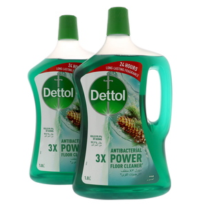 Dettol Power Antibacterial Floor Cleaner Pine 2 x 1.8Litre