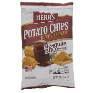 Herr's Potato Chips Kettle Cooked Mesquite BBQ Flavored 170.1g