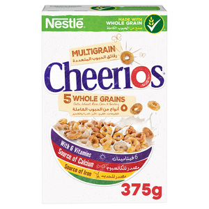 Nestle Cheerios Multi Whole Grains Breakfast Cereal  375g