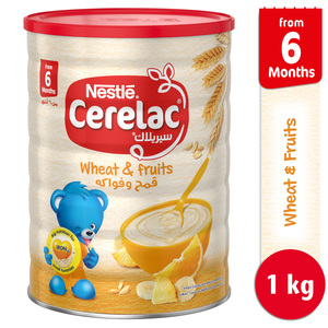 Nestle Cerelac Infant Cereals with Iron + Wheat & Fruits From 6 Months 1kg