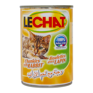Lechat Cat Food Chunkies With Rabbit 400g