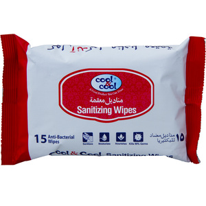 Cool And Cool Sanitizing Wipes 15pcs