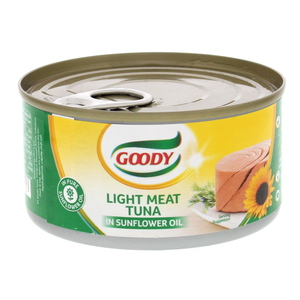 Goody Light Meat Tuna In Sunflower Oil 185g