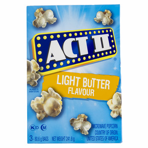 Act II Microwave Popcorn Light Butter Flavour 241.8g