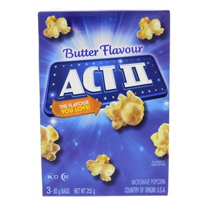 Act II Butter Flavour Microwave Popcorn 255g