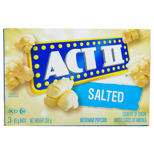Act II Microwave Popcorn Salted 255g