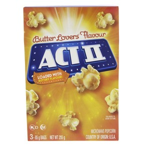 Act II Butter Lovers Microwave Popcorn 255g