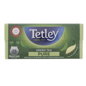 Tetley Green Tea Pure Drawstring Tea Bags 25Pcs