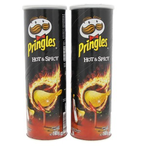 Pringles Hot and Spicy Chips 165g x 2pcs