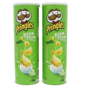 Pringles Sour Cream and Onion Chips 165g x 2pcs