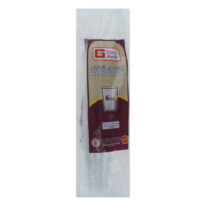 Grand Star Plastic Clear Cup 6oz 50pcs